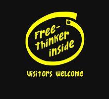 Freethinker Inside -- Visitors Welcome Unisex T-Shirt