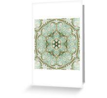 Soft Light Mandala - Abstract Fractal Artwork Greeting Card