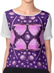 Magic Lotus in a landscape temple of love and sun Chiffon Top