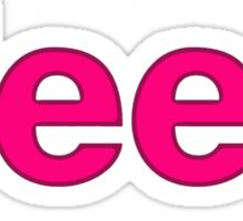 Pink Jeep letters Sticker