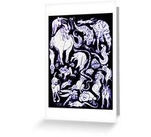 Extreme Animal Doodle Greeting Card