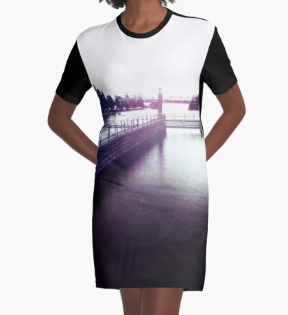 rainy day Graphic T-Shirt Dress