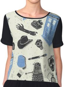 doctor who - mixed  Chiffon Top