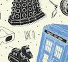 doctor who - mixed  Sticker