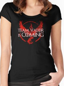 Pokemon Go - Team Valor Is Coming Women's Fitted Scoop T-Shirt