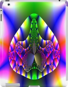 A colourful fractal design - iPad/iPhone/iPod/Samsung cases by Dennis Melling