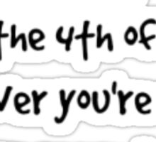 Fourth of July Sticker