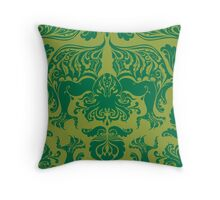 I Love Craft (Cthulhu Damask) Throw Pillow