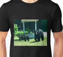 Mama Bear and Two Cubs Unisex T-Shirt