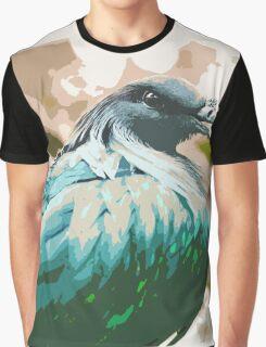 Colourful Bird Graphic T-Shirt