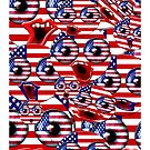 over crowded USA smileys by gruntpig