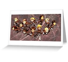 Attack On Titan 01 Greeting Card