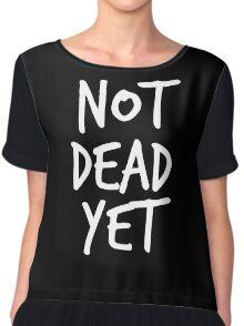 Not Dead Yet - Frank Turner Inspired T-Shirt (White) Chiffon Top