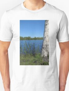 birch overlooking the lake 2 T-Shirt