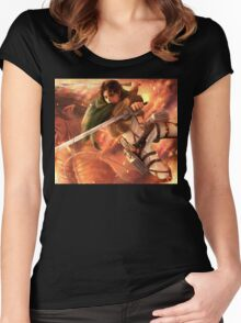 Attack On Titan 04 Women's Fitted Scoop T-Shirt