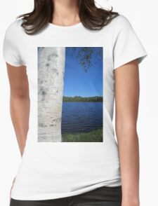 birch overlooking the lake T-Shirt