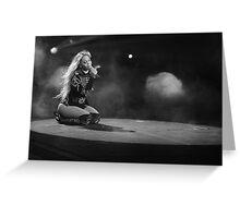 Beyoncé Knowles 1+1 LIVE Greeting Card