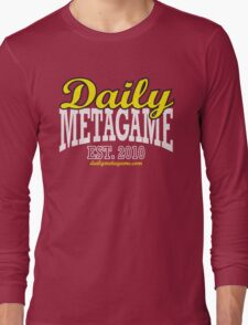 Daily Metagame Sport Black Stroke Long Sleeve T-Shirt
