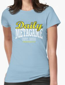 Daily Metagame Sport Black Stroke Womens Fitted T-Shirt