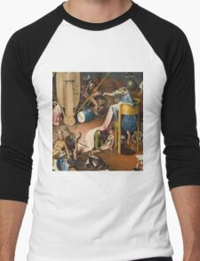 Hieronymus Bosch - The Garden Of Earthly Delights Art Fragment Painting: eden, hell, beauty, adam, retro animals, birds, cool love, trendy gift, celebration, vintage monster, doodle, birthday, fantasy T-Shirt