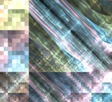 Pastel Tapestry - Abstract Fractal Artwork Sticker