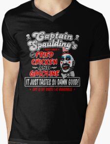 Captain Spaulding Fried Chicken & Gasoline Mens V-Neck T-Shirt