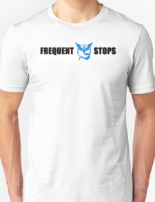 Team Mystic Frequent Stops - Recommended Size for Car is Large! T-Shirt