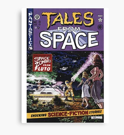 Back to the Future Tales from Space comic cover Canvas Print