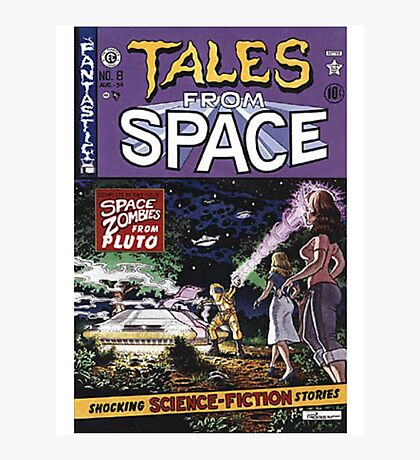 Back to the Future Tales from Space comic cover Photographic Print