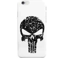 The Punisher Skull Black Distress Marvvel Fanart iPhone Case/Skin