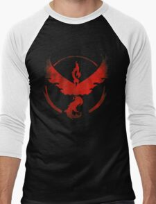 Team Valor grunge red - black bg Men's Baseball ¾ T-Shirt