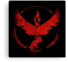 Team Valor grunge red - black bg Canvas Print