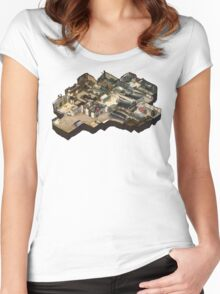 Cache Isometric Map Women's Fitted Scoop T-Shirt