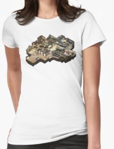 Cache CS:GO Isometric Map Womens Fitted T-Shirt