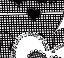 Skull Patchwook Lace Design - Valentine Sticker