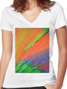 A Slight Tendency to Overcompensate Failure Women's Fitted V-Neck T-Shirt