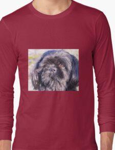 Cute shih tzu head Long Sleeve T-Shirt