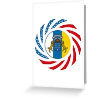Canarian American Multinational Patriot Flag Series Greeting Card