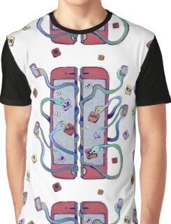 Handsy Phone by Maisie Cross Graphic T-Shirt