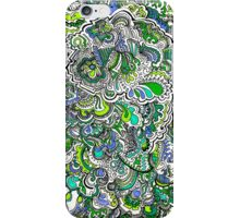 Green,Purple,Blue Doodle iPhone Case/Skin