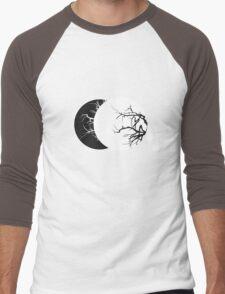 Geometric Lunae Black Men's Baseball ¾ T-Shirt