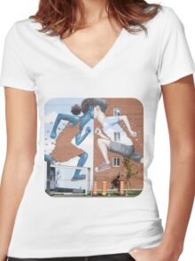 Head to Head Women's Fitted V-Neck T-Shirt