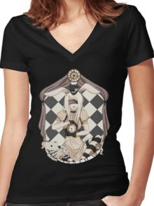 Alice in Cameo Women's Fitted V-Neck T-Shirt