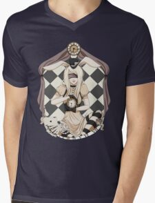 Alice in Cameo Mens V-Neck T-Shirt
