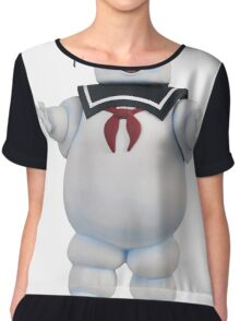 Ghostbusters Stay Puft Marshmellow Man Chiffon Top
