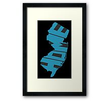 New Jersey HOME state design Framed Print