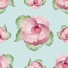 Watercolor Floral Background by Olga Altunina