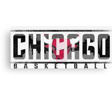 Chicago Bulls Ice Canvas Print