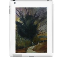 Ancient English Tree Countryside Painting Acrylics On Canvas iPad Case/Skin