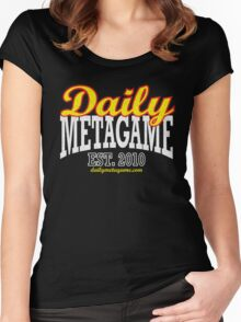 Daily Metagame Sport Red Stroke Women's Fitted Scoop T-Shirt
